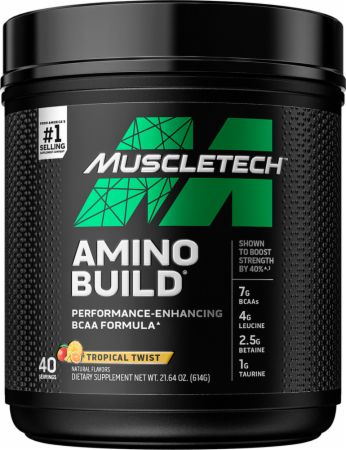 Image of Amino Build BCAA Formula Tropical Twist 40 Servings - Amino Acids & BCAAs MuscleTech