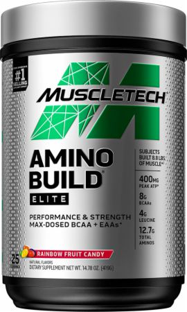 Image of Amino Build Elite BCAA Rainbow Fruit Candy 25 Servings - Amino Acids & BCAAs MuscleTech