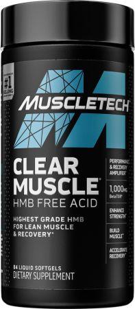 Image of Clear Muscle HMB Free-Acid 84 Liquid Softgels - Amino Acids & BCAAs MuscleTech