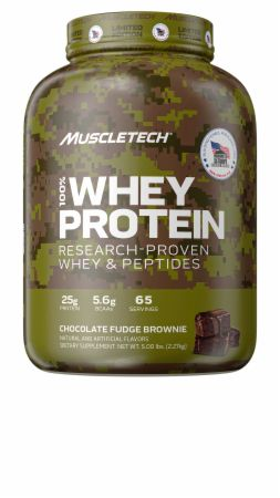 Image of Homes For Our Troops 100% Whey Protein Chocolate Fudge Brownie 5 Lbs. - Protein Powder MuscleTech