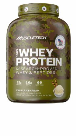 Image of Homes For Our Troops 100% Whey Protein Vanilla Ice Cream 5 Lbs. - Protein Powder MuscleTech