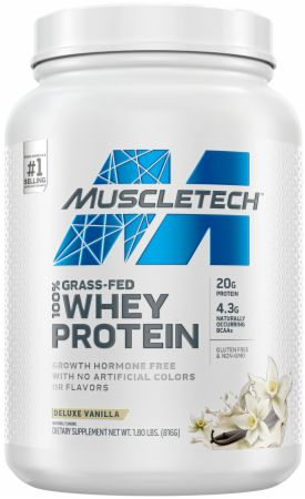 MuscleTech 100% Grass-Fed Whey Protein Powder