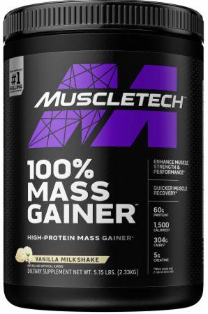Image of 100% Mass Gainer - Premium Weight Gainer Vanilla Milkshake 5.15 Lb. (7 Servings) - Mass Gainers MuscleTech