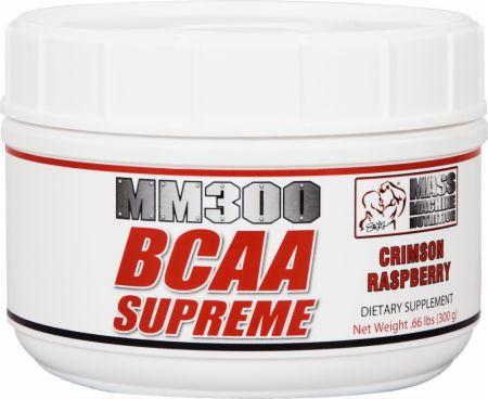 Mass Machine Nutrition MM300 BCAA SUPREME 300 Grams Crimson Raspberry