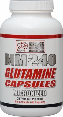 Mass Machine Nutrition MM240 Micronized Glutamine Capsules 240 Capsules