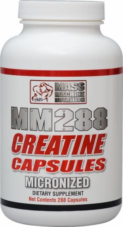 Mass Machine Nutrition MM288 Micronized Creatine Capsules 288 Capsules