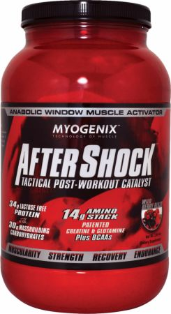 Image of AfterShock Recovery Wild Berry Blast 2.64 Lbs. - Post-Workout Recovery Myogenix
