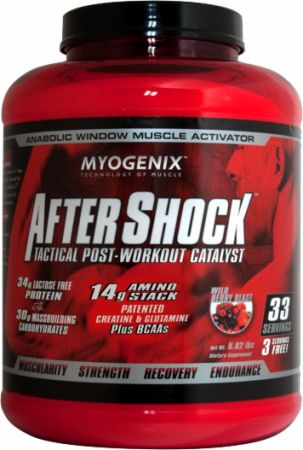 Image of AfterShock Recovery Wild Berry Blast 5.82 Lbs. - Post-Workout Recovery Myogenix