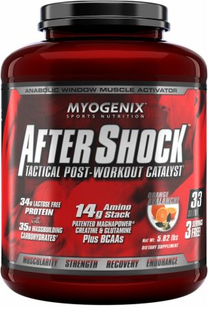 Image of AfterShock Recovery Orange Avalanche 5.82 Lbs. - Post-Workout Recovery Myogenix