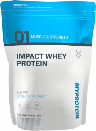 MyProtein Impact Whey Protein Strawberry Cream 2.2 Lbs. - Protein Powder