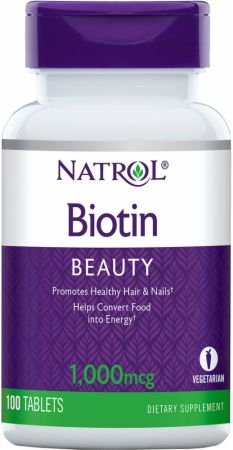 Image of Biotin 1000mcg/100 Tablets - Vitamins A-Z Natrol