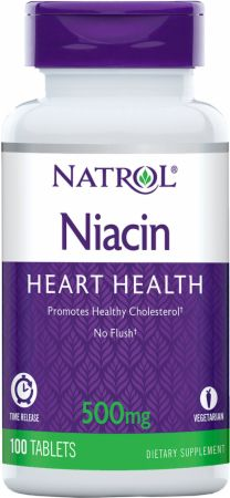 Image of Natrol Niacin Time Release 100 Tablets