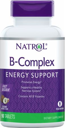 Image of Natrol B-Complex Fast Dissolve 90 Tablets Coconut