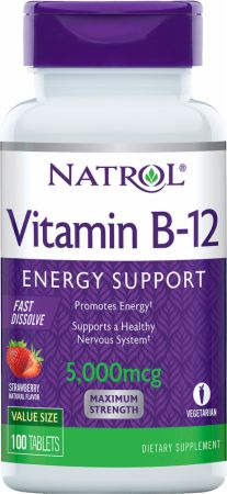 Image of Natrol Vitamin B-12 Fast Dissolve 100 Tablets Strawberry