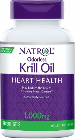 Image of Odorless Krill Oil 1000mg - 30 Softgels - Fish Oil Omega-3 Natrol
