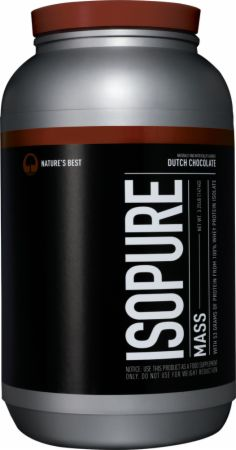 Image of Isopure Mass Dutch Chocolate 3.25 Lbs. - Mass Gainers Isopure