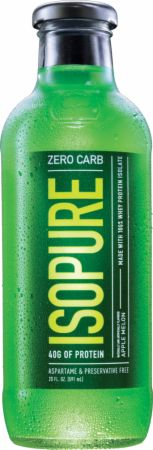 Image of Zero Carb 40 Gram 100% Whey Protein Isolate Drink Apple Melon 12 Bottles - Protein RTD Shakes Isopure