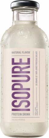 Image of Isopure Natural RTD Grape Frost 12 - 16 FL. Oz. Bottles - Protein RTD Shakes Isopure