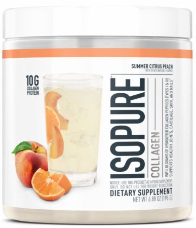 Image of Collagen Summer Citrus Peach 15 Servings - Joint Support Isopure