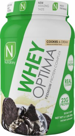 NutraKey Whey Optima Cookies & Cream 2.1 Lbs. - Protein Powder
