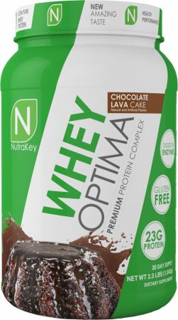 NutraKey Whey Optima Chocolate Lava Cake 2.1 Lbs. - Protein Powder