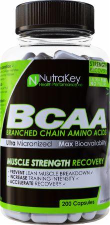 NutraKey BCAA 200 Capsules - Amino Acids & BCAAs
