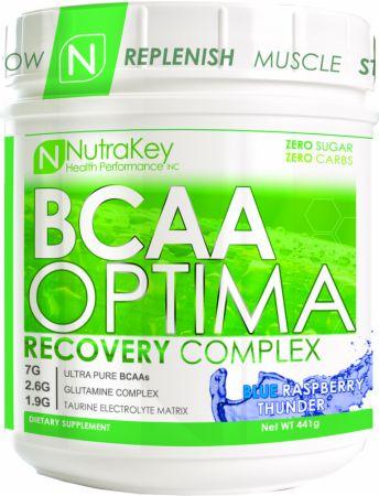 BCAA Optima Blue Raspberry Thunder 30 Servings - Amino Acids & BCAAs NutraKey