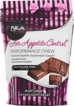 Her Appetite Control Chew Rich Chocolate 30 Servings - Appetite Suppressant NLA for Her