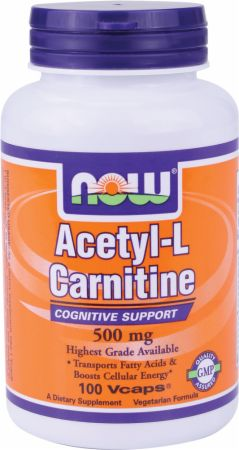 Image of NOW Acetyl-L-Carnitine 500mg/100 Capsules