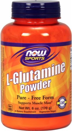 NOW L-Glutamine Powder Unflavored 6 Oz. - Amino Acids & BCAAs