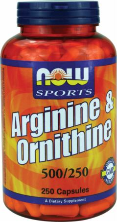 Image of NOW Arginine & Ornithine 250 Capsules