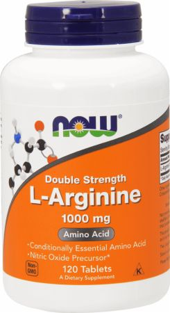 Image of L-Arginine 1000mg/120 Tablets - Nitric Oxide Boosters NOW