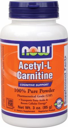 Image of NOW Acetyl-L-Carnitine Powder 3 Oz. Unflavored