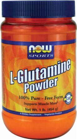 NOW L-Glutamine Powder Unflavored 1 Lb. - Amino Acids & BCAAs