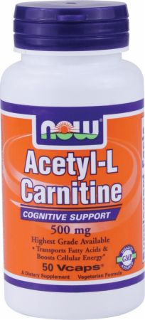 Image of NOW Acetyl-L-Carnitine 500mg/50 Capsules
