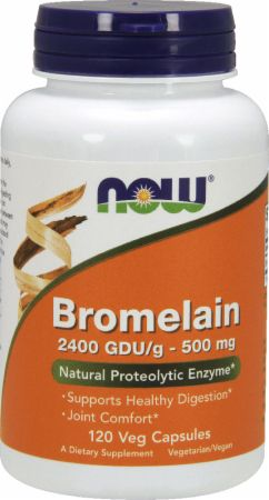 Image of Bromelain 2400 GDU/120 Veg Capsules - Digestive Health NOW