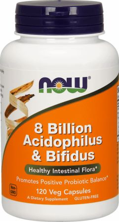 Image of NOW 8 Billion Acidophilus & Bifidus 120 Veg Capsules