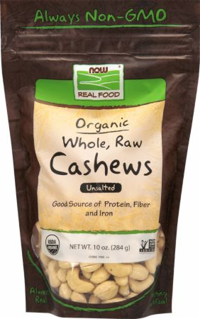 Organic Whole, Raw Cashews