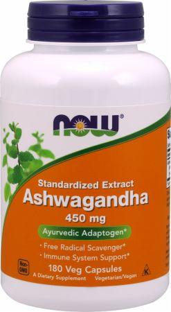 Image of Ashwagandha 180 Veg Capsules - Stress Reduction NOW