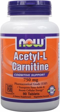 Image of NOW Acetyl L-Carnitine Tablets 750mg/90 Tablets