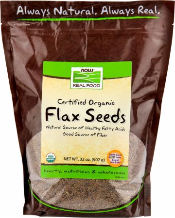 NOW Flax Seeds - Certified Organic