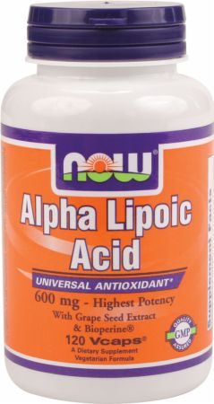 Image of NOW Alpha Lipoic Acid Plus 600mg/120 Vcaps