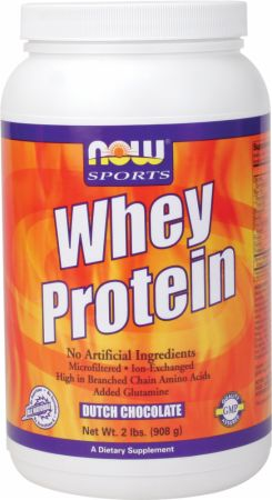 NOW Whey Protein Dutch Chocolate 2 Lbs. - Protein Powder
