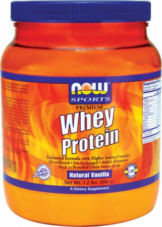 NOW Premium Whey Protein Natural Vanilla 2 Lbs. - Protein Powder