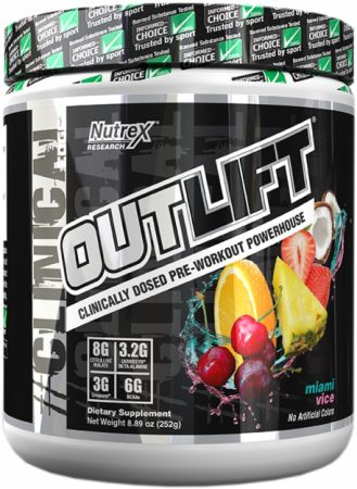Nutrex Outlift Miami Vice 10 Servings - Pre-Workout Supplements