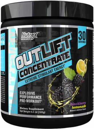 Outlift Concentrate Blackberry Lemonade 30 Servings - Pre-Workout Supplements Nutrex