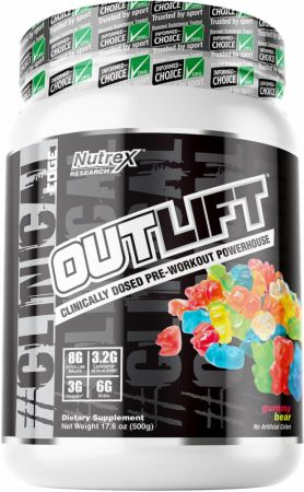 Image of Outlift Gummy Bear 20 Servings - Pre-Workout Nutrex