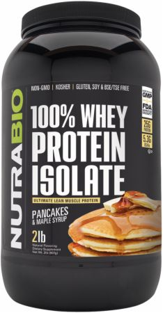 Image of 100% Whey Protein Isolate Pancakes & Maple Syrup 2 Lbs. - Protein Powder NutraBio