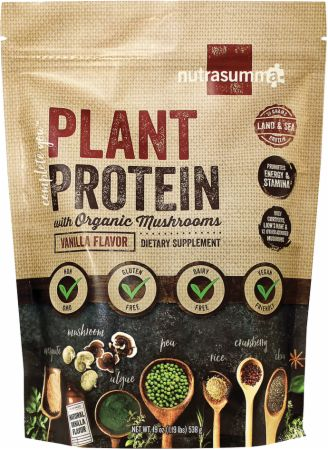 Plant Protein with Organic Mushrooms