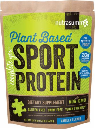 Image of Plant Based Sport Protein Vanilla 1.26 Lbs. - Protein Powder Nutrasumma